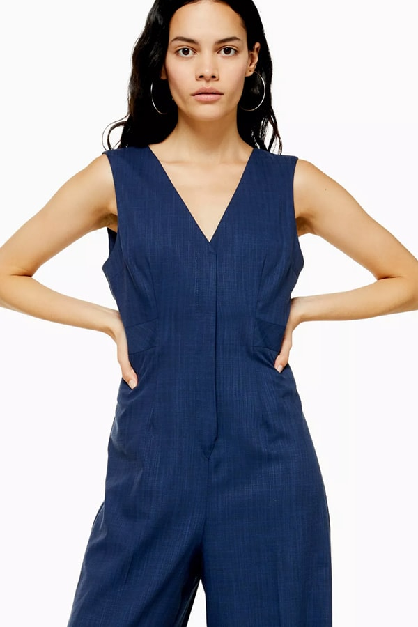 Classic blue jumpsuit from TopShop