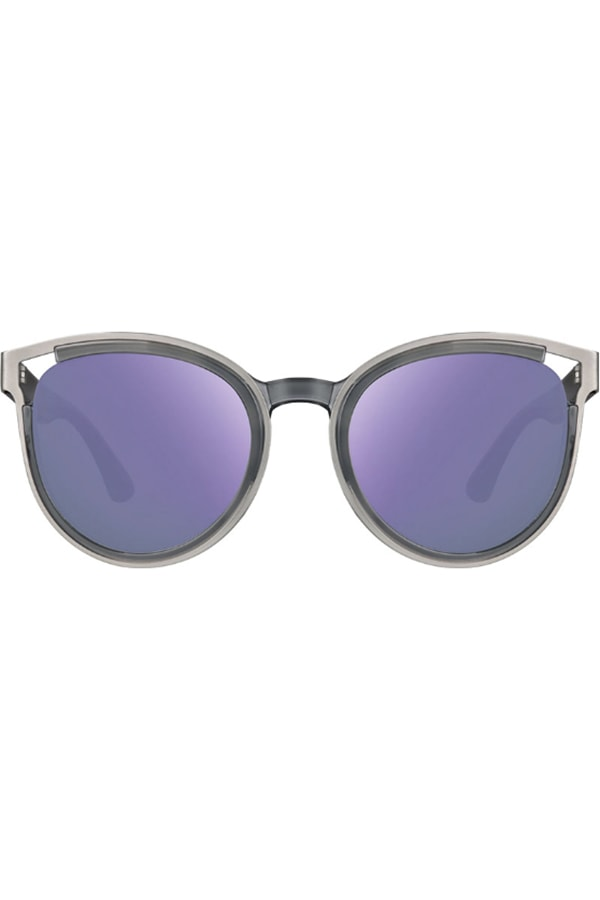 Cat eye sunglasses with lavender lenses
