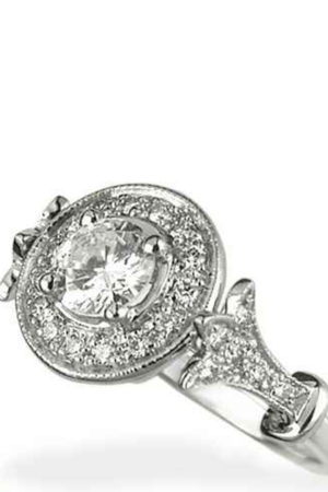 Vintage style engagement ring for women