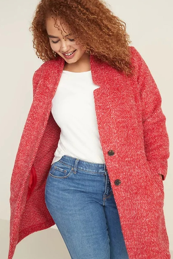Textured coat from Old Navy plus