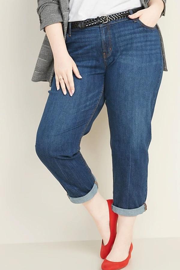 Boyfriend jeans in Old Navy plus size