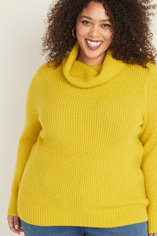 Yellow sweater from Old Navy women's plus