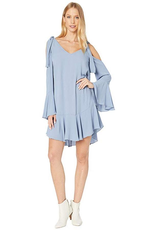 Baby blue drop waist dress