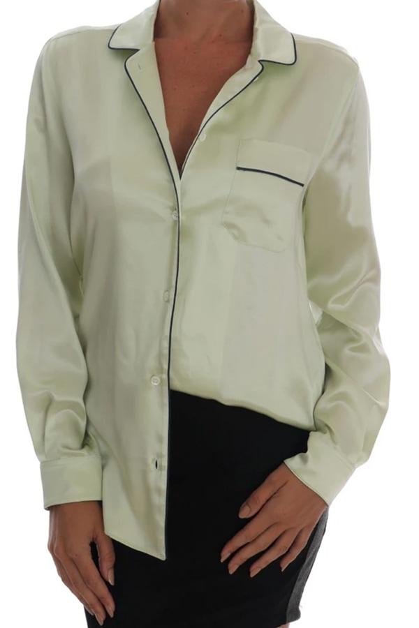 Green blouse from Dolce & Gabbana
