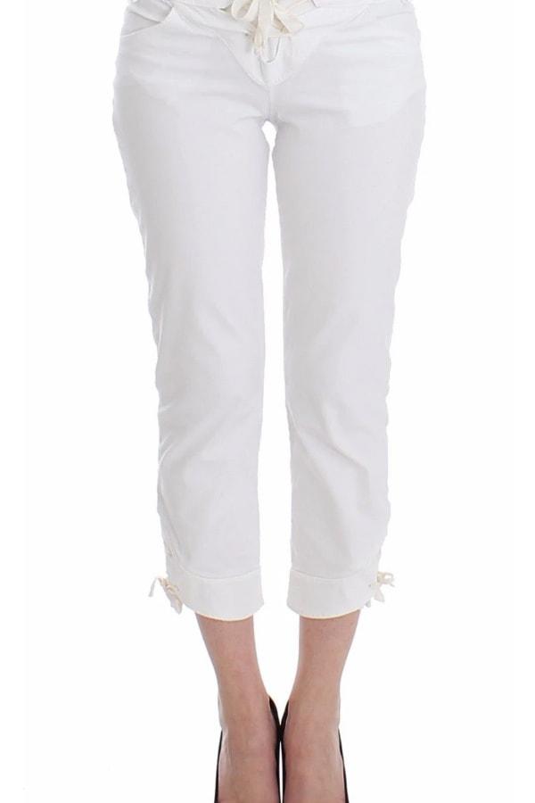 White designer capris