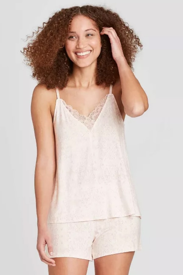 Blush pink cami set from Target