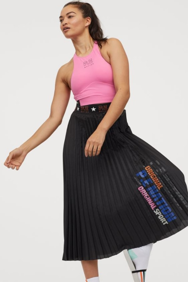P.E. Nation x H&M Collection Pleated Skirt