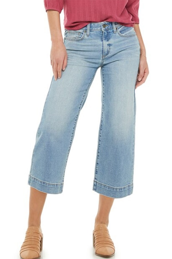 Wide legged capri pants from Kohl's
