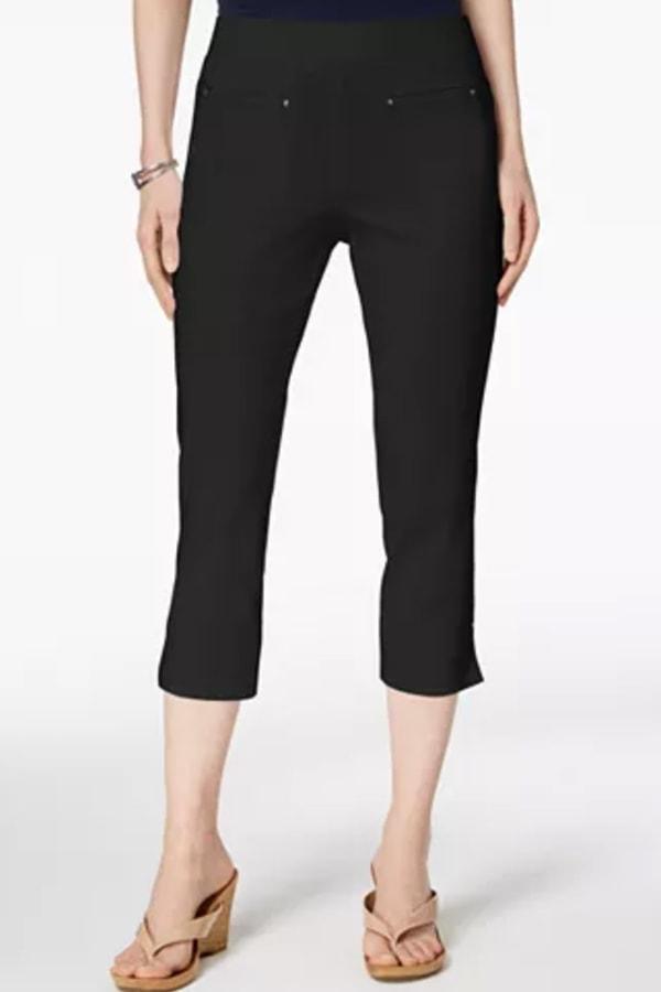 Capri pants with elastic waist