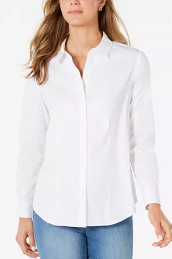Fashion classics: button down, white shirt