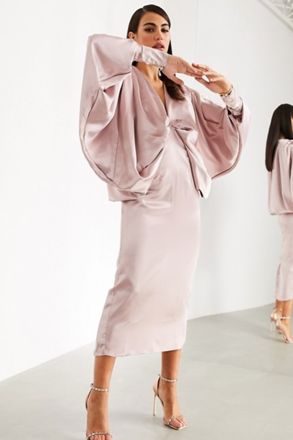 Formal long sleeve midi dress from ASOS