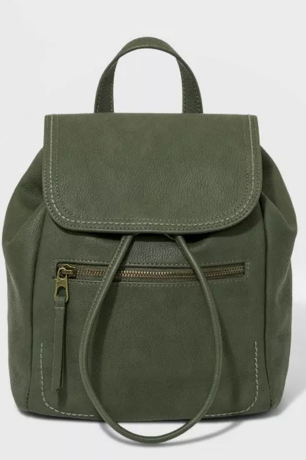 Green mini backpack from Target