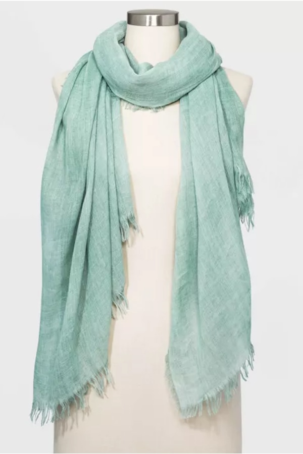 Pastel accessories! Mint green scarf
