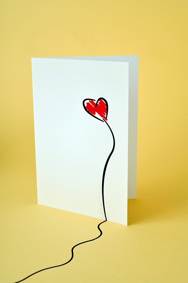 Card with a heart on it