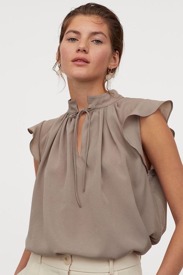 Tops for work -- crepe blouse from H&M