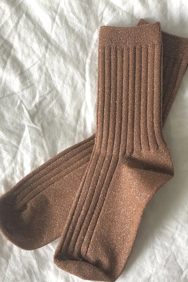 WFH footwear option: glitter socks