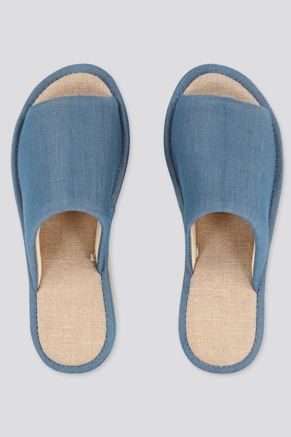 WFH footwear: chambray slippers