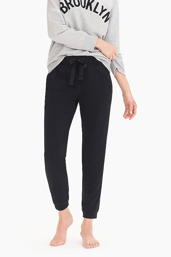 Black joggers with tie waist from J. Crew