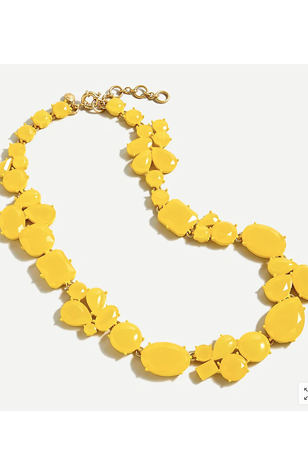 Chunky yellow necklace from J. Crew