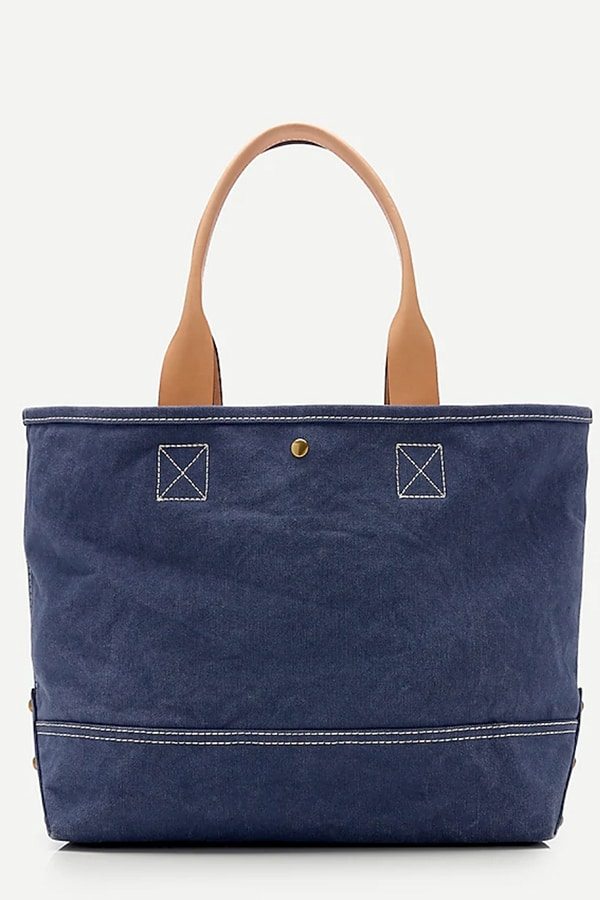 Blue tote bag from J. Crew