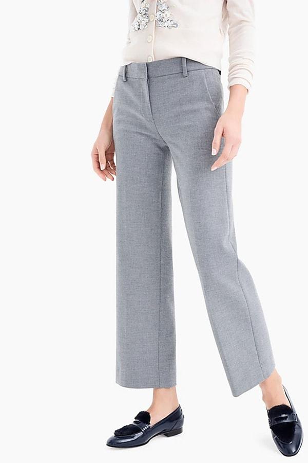 Gray, wide-legged pant
