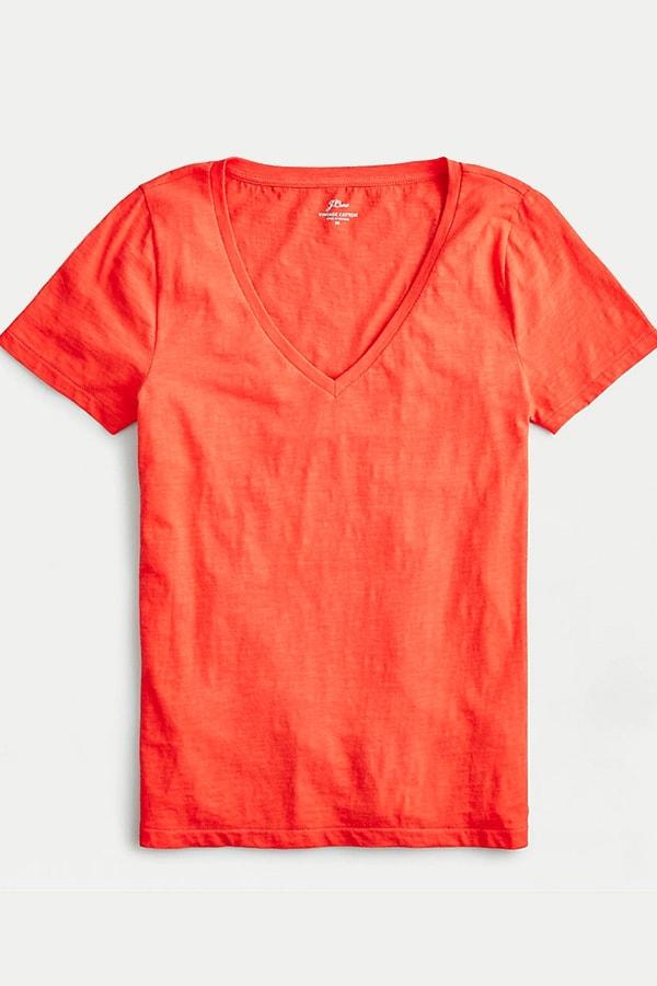 Orange t-shirt from J. Crew