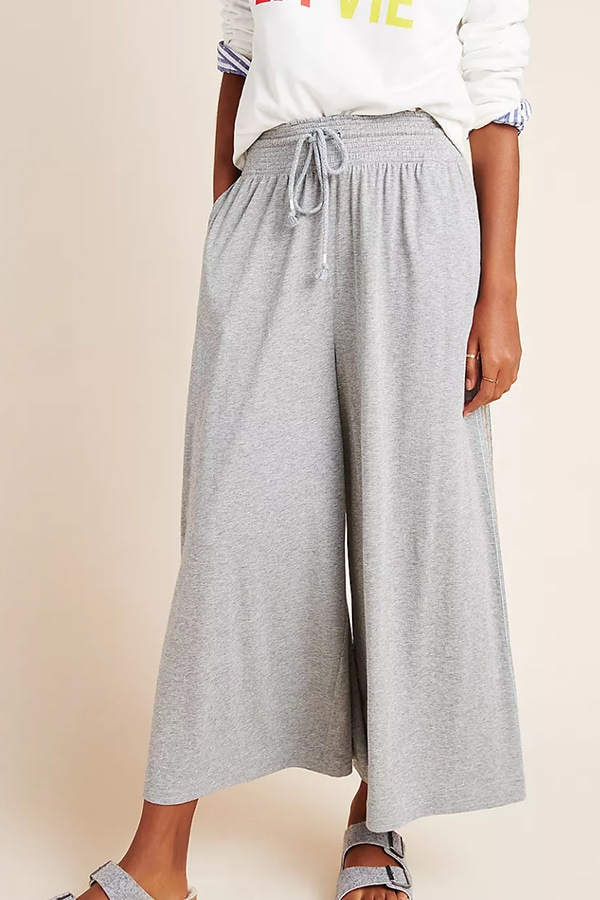 Wide leg pants for lounging around the house