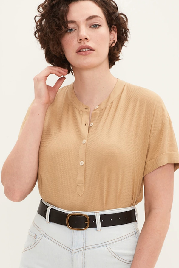 Polished t-shirt for lounging at home