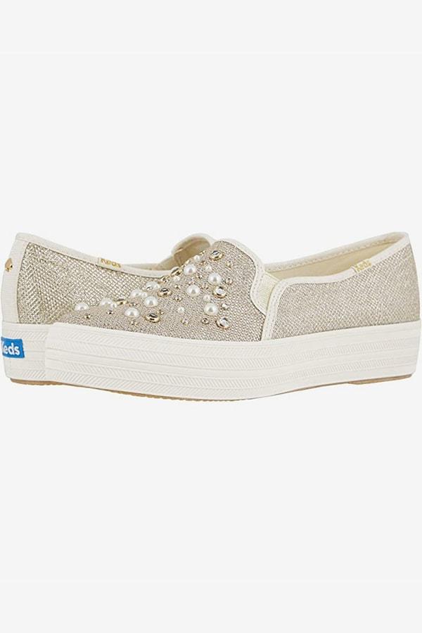 Pearl embellished Keds sneakers