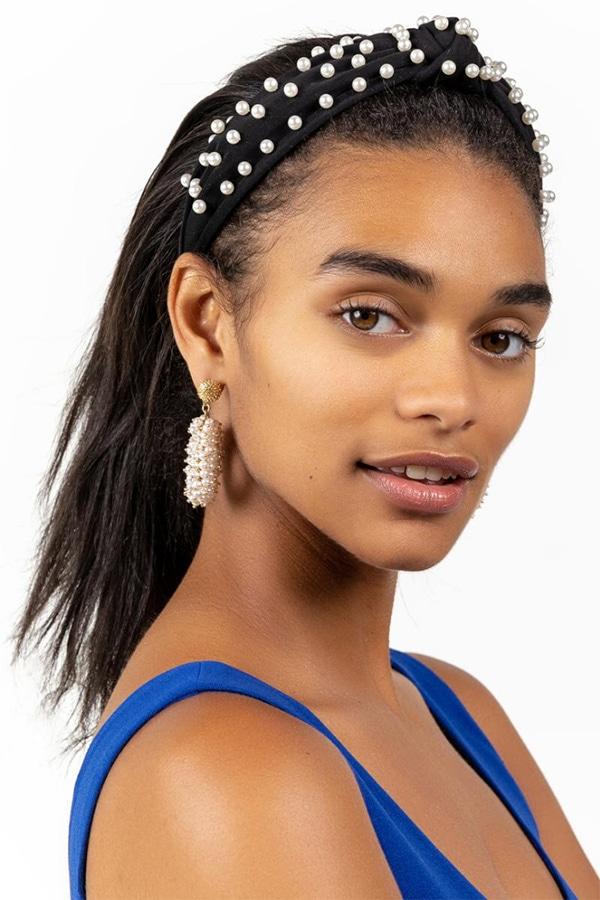Headband with pearls