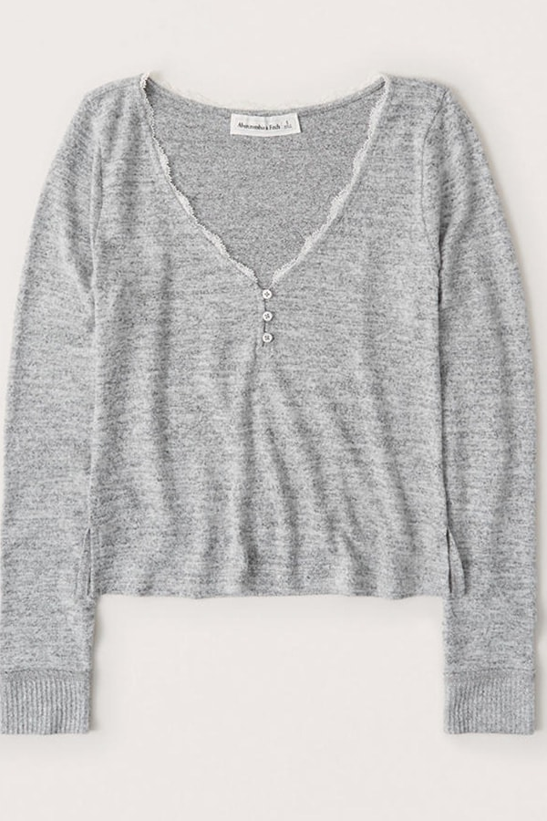 Women's pajamas -- Abercrombie & Fitch Long-Sleeve Sleep Henley