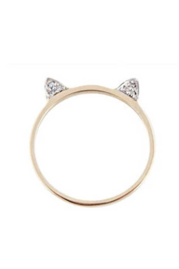 Cat ears ring for summer jewelry