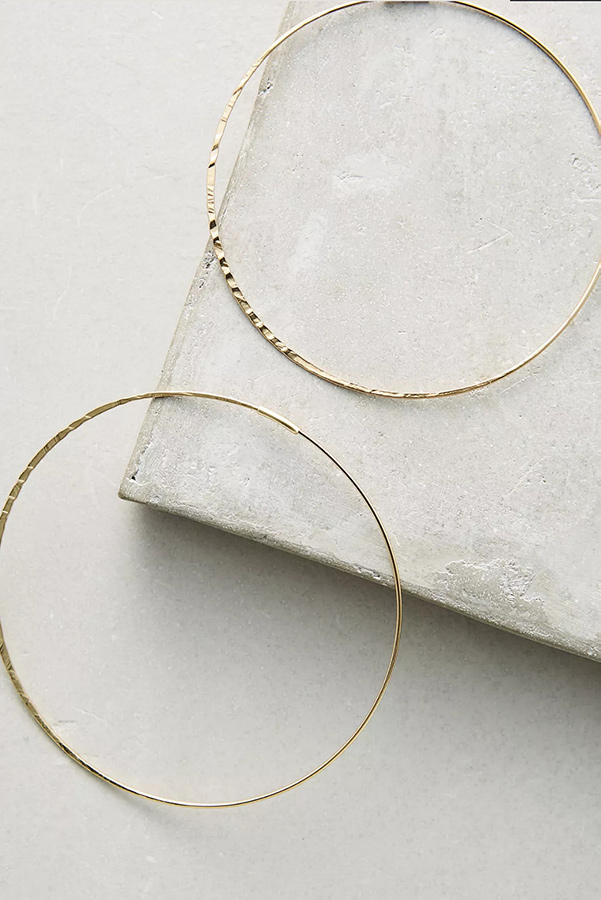 Gold hoops as summer jewelry pick