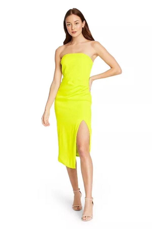 Neon yellow CUSHNIE dress from Target