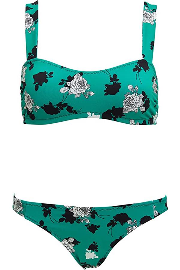Floral bikini with retro bikini