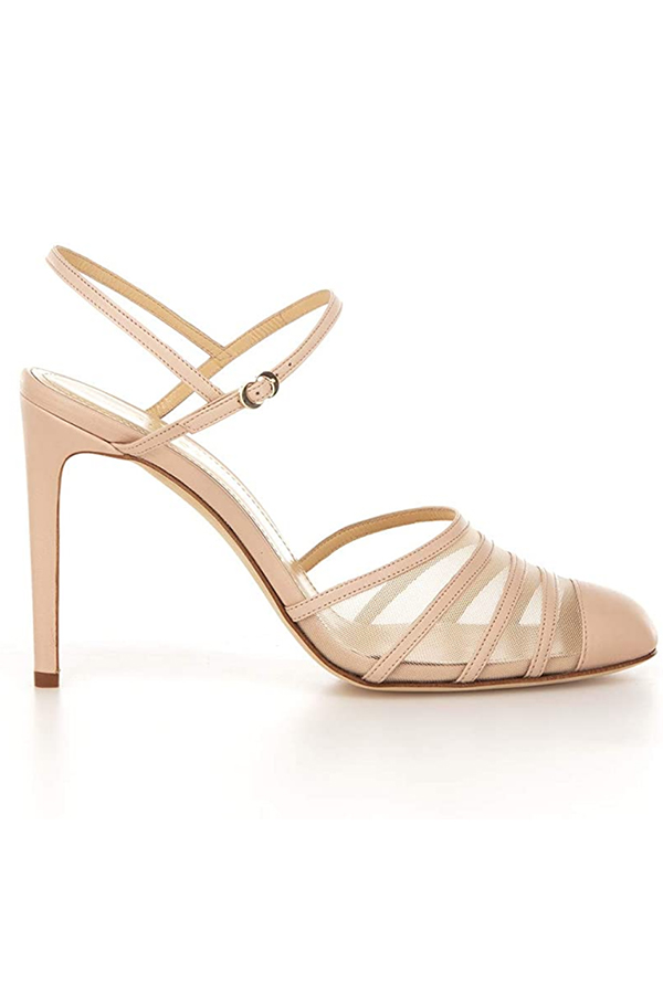 Nude, strappy sandal