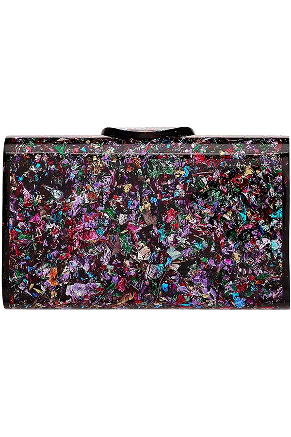 Rainbow design clutch bag from Common Threads collection on Amazon
