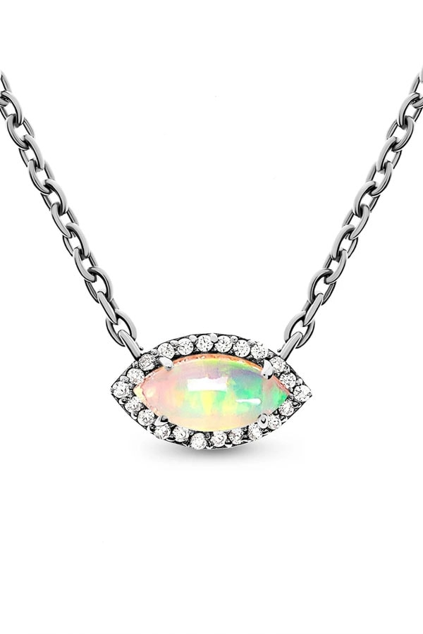 Piece of crystal jewelry: opal necklace