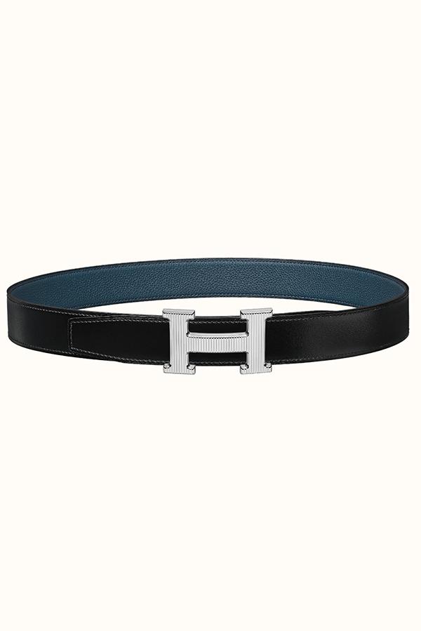 Reversible Hermes belt