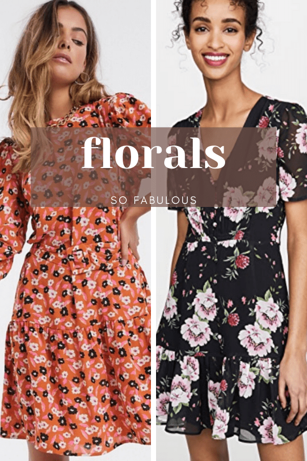 Two floral dresses with overlay: florals so fabulous