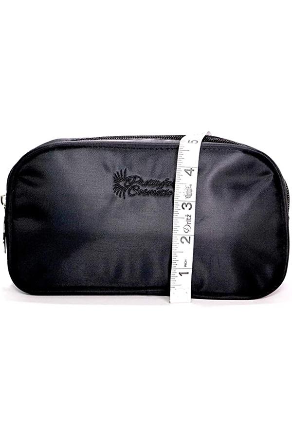 Black insulated makeup bag