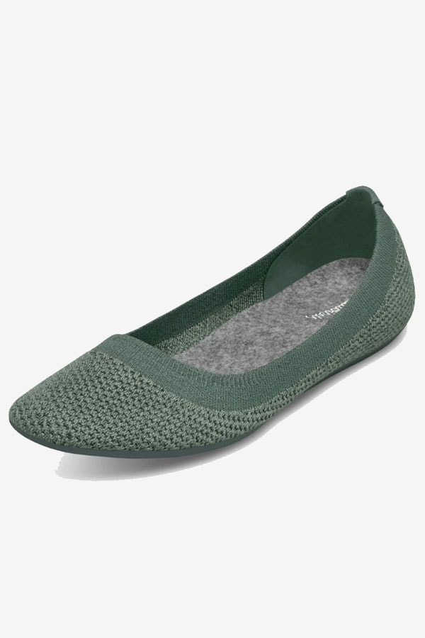 Dark green flat shoe