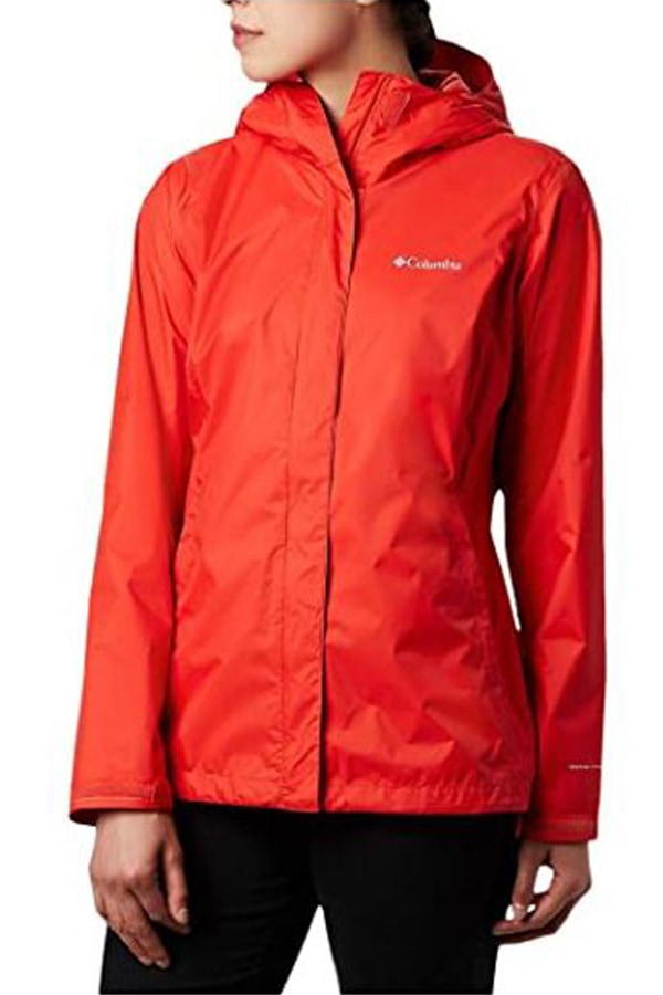 Orange waterproof jacket from Columbia
