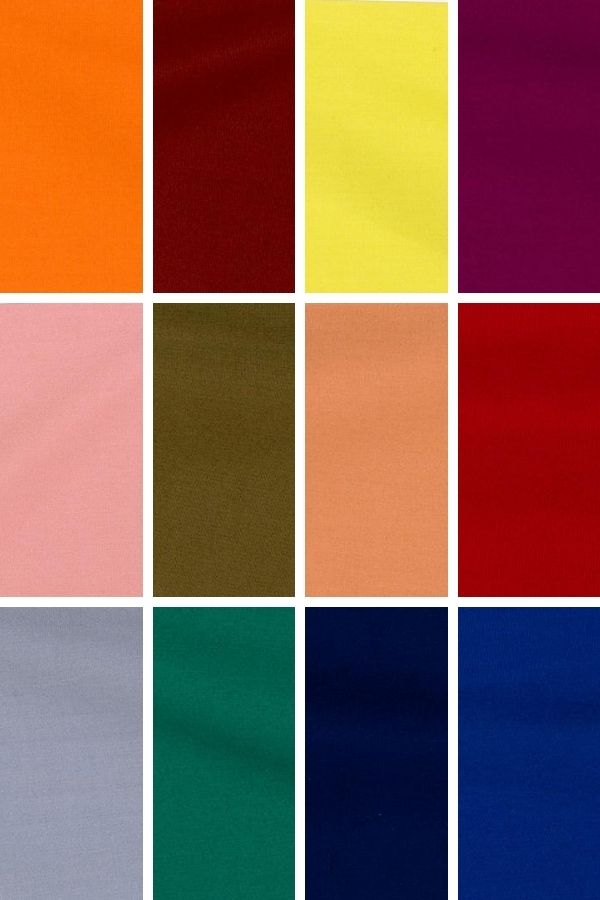 Color palette of trendy fall colors.