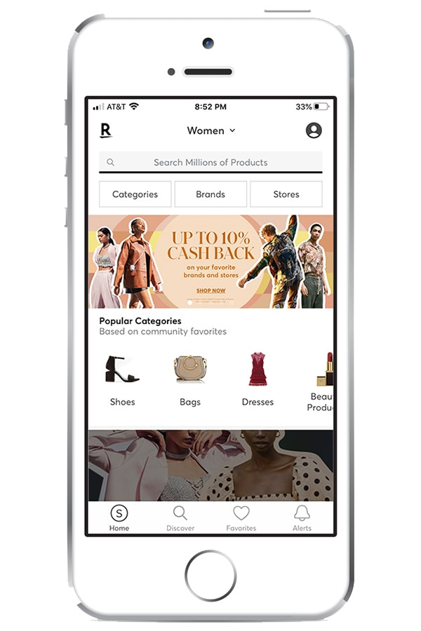 View of Shopstyle app on iphone