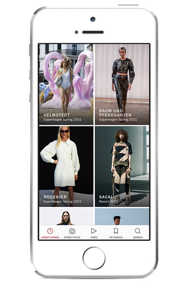 View of Vogue Runway app on iphone