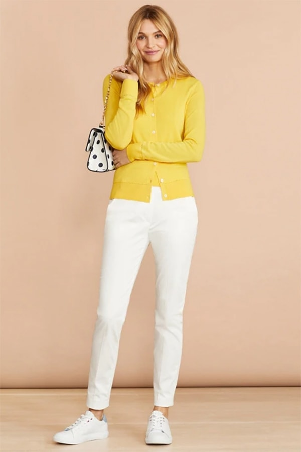 Yellow sweater from Brooks Brothers