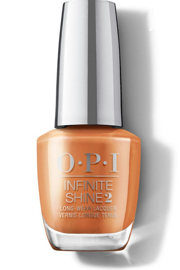 Orange OPI nail polish