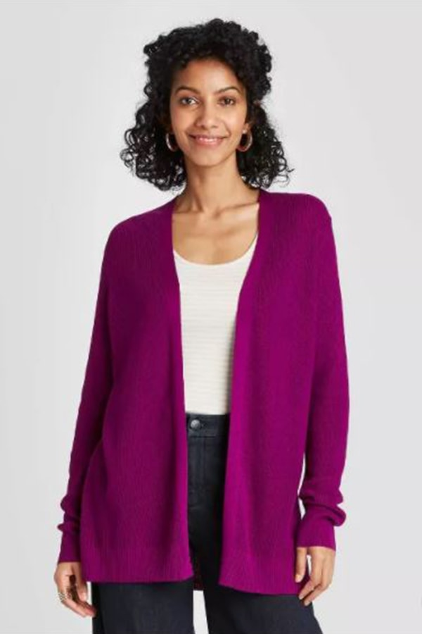 Purple cardigan from Target