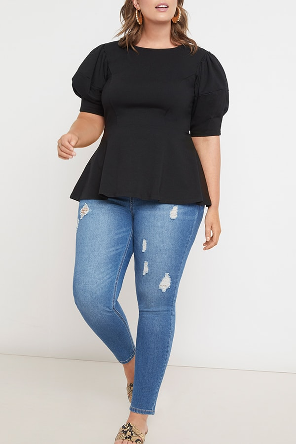 Peplum top from Eloquii Walmart collection